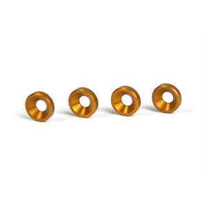 ALU COUNTERSUNK SHIM - ORANGE (4)
