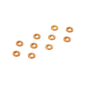 ALU SHIM 3x6x0.5MM - ORANGE (10)
