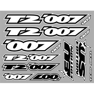 XRAY T2'007 STICKER FOR BODY - WHITE - DIE-CUT