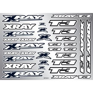 XRAY T3 STICKER FOR BODY - WHITE
