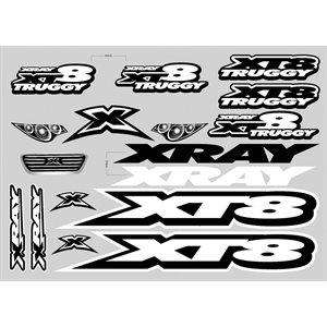XRAY XT8 STICKER FOR BODY - WHITE