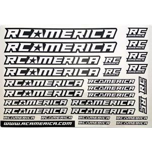 RC America Logo Decal Sheet Black & White